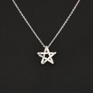Jewelry - Hollow Star Crystals Pendant Necklace